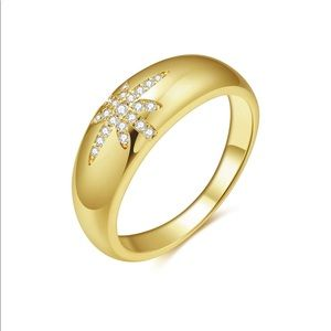 24k Yellow Gold Chunky Dome Ring 7